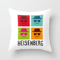 popart Throw Pillows featuring Heisenberg Popart by Nxolab