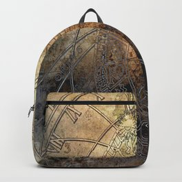 Ancient Astrology Clock Backpack