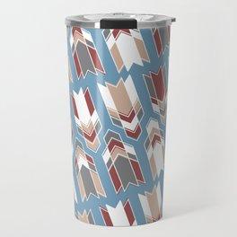 Blue & Red Arrows Pattern Travel Mug