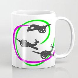 Aerobatic planes  Vivid Vapor trails Coffee Mug