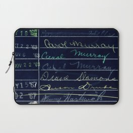 Library Card 780 The Wonderful World of Music Negative Laptop Sleeve