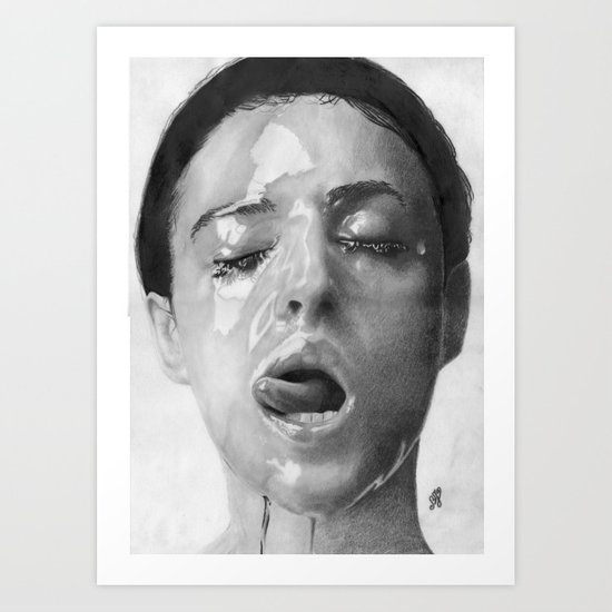 Monica Bellucci Traditional Portrait Print Art Print