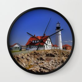 Portland Head Light Wall Clock