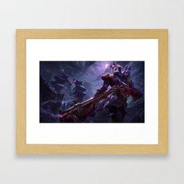 Blood Moon Jhin League of Legends Framed Art Print
