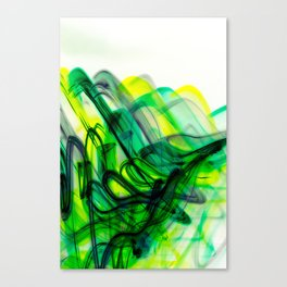 Green Flow Canvas Print
