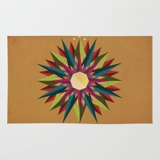 Half Circle Stars Rug