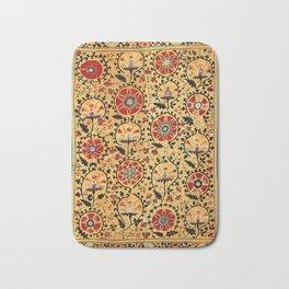 Shakhrisyabz Suzani  Antique Uzbekistan Embroidery Bath Mat