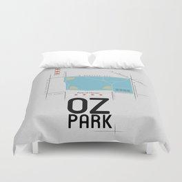 Parks of Chicago: Oz Park Duvet Cover