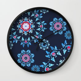 winter mandala Wall Clock