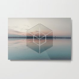 Tranquil Landscape Geometry Metal Print