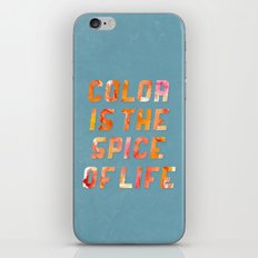 Spice of Life iPhone & iPod Skin
