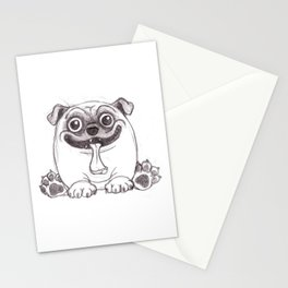 Mozart The Pug Stationery Cards