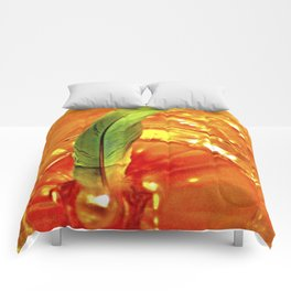Portal of Creation (orange & green) Comforters