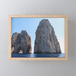 Lovers' Rock - Capri - Faraglioni Framed Mini Art Print