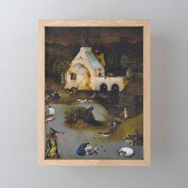 Hieronymus Bosch - The Temptation of St Anthony Framed Mini Art Print