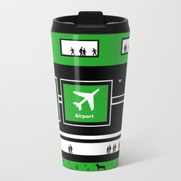 Busy Airport Metal Travel Mug