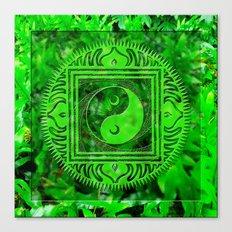yin yang oonidaoma leaves Canvas Print