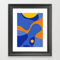 Orange Pop | Happy modern Art Framed Art Print