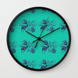 Geometric Pebbles Wall Clock