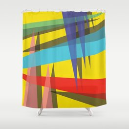 Ambient 19 yellow Shower Curtain