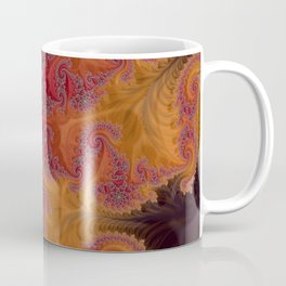 Heart of the Flame - Fractal Art Coffee Mug