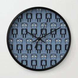 Super cute animals - Cheeky Blue Monkey Wall Clock