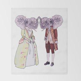 Madame and Monsieur Elephant Throw Blanket