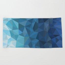 blue geometric Beach Towel