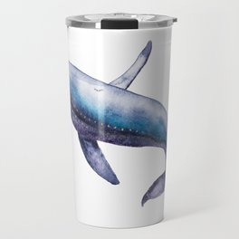 Humpback Whale Breech Watercolor Travel Mug