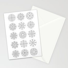 minimalist snow flakes Stationery Cards
