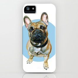French Bulldog blue spot. iPhone Case