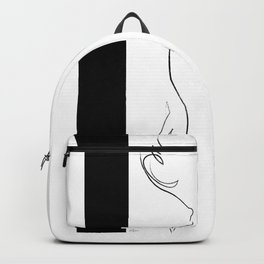 Woman Figure Line 2 Backpack