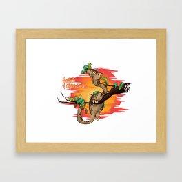 Hoard of Chameleons Framed Art Print