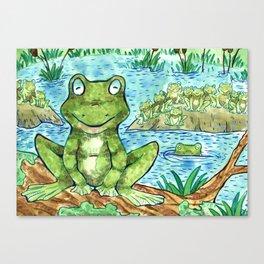 Chillin' Frogs Canvas Print