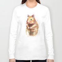 hamster Long Sleeve T-shirts featuring hamster by dace k