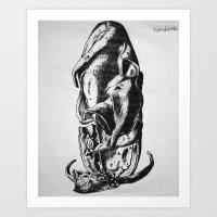 Art Print featuring  Ancient Shoe by Tiendank