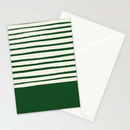 Holiday x Green Stripes Stationery Cards