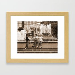 Girlfriends Chat Framed Art Print
