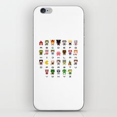 Video Games Pixel Alphabet iPhone & iPod Skin