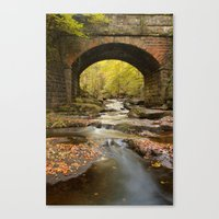 cassia beck Canvas Prints featuring Bridge over May Beck by Martin Williams
