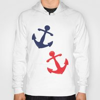anchors Hoodies featuring Anchors by Indulge My Heart