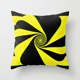 Abstract. Yellow+Black. Throw Pillow