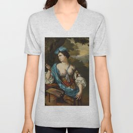 "Willem van Mieris ""Diana Goddess of the Hunt"" Unisex V-Neck"
