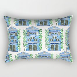 Tropical Blue House Rectangular Pillow