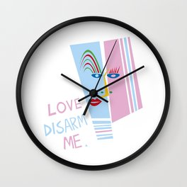 LOVE DISARM ME (MATISSE INSPIRATION) Wall Clock