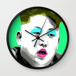 Marilyn Jong Un - Green Wall Clock