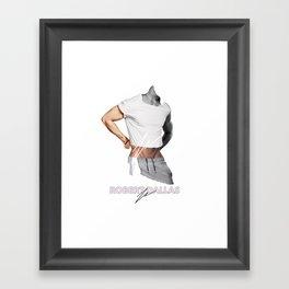 """HANDSOME BUNS"" BY ROBERT DALLAS Framed Art Print"