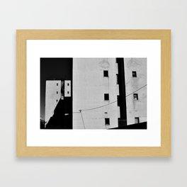 Modernist Residential Blocks Framed Art Print