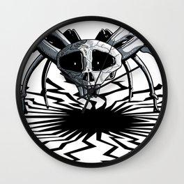 Skull Spider Wall Clock