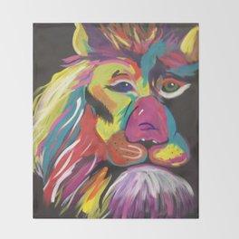 Lion Bright Throw Blanket